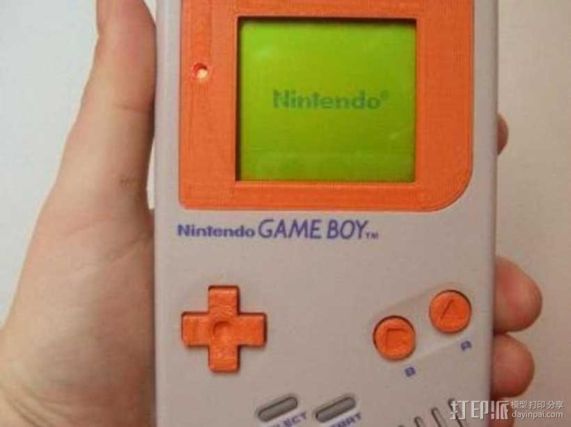 Game Boy掌上游戏机的遮光板和按钮 3D模型  图4