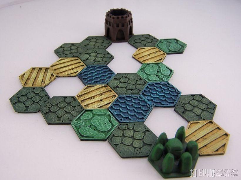 Pocket-Tactics系列游戏棋盘 3D模型  图4