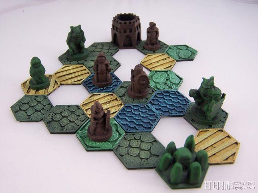 Pocket-Tactics系列游戏棋盘 3D模型  图5