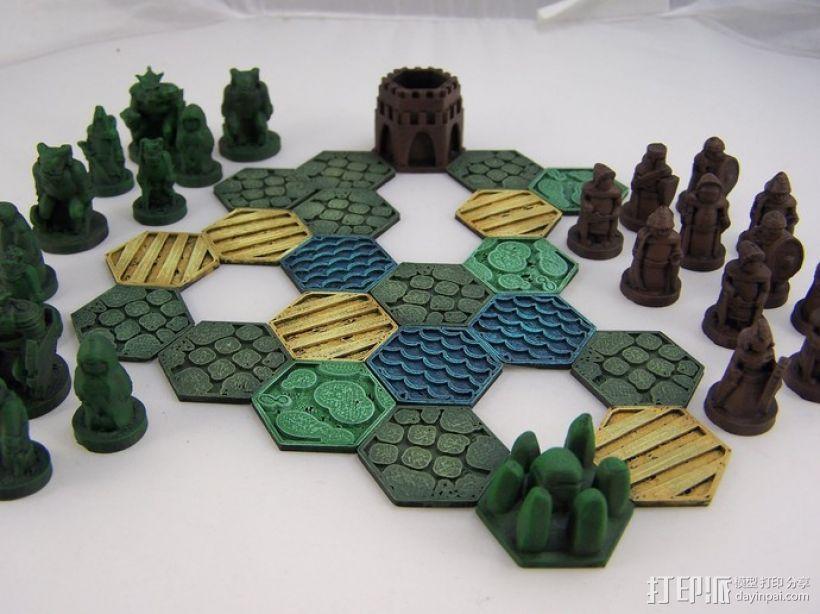 Pocket-Tactics系列游戏棋盘 3D模型  图6