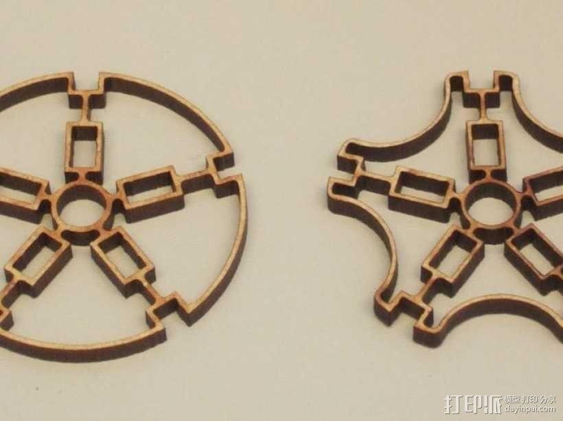 朋克风的海星圆球 3D模型  图3