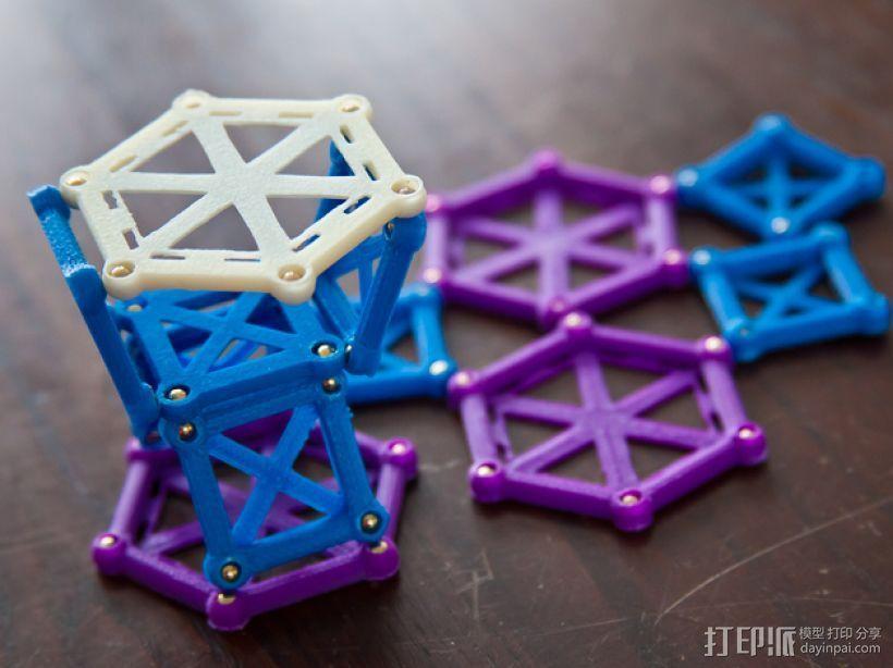 麦格纳结构拼图 3D模型  图3
