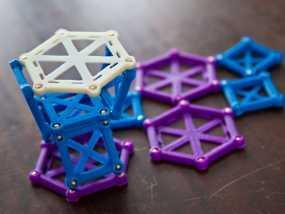 麦格纳结构拼图 3D模型