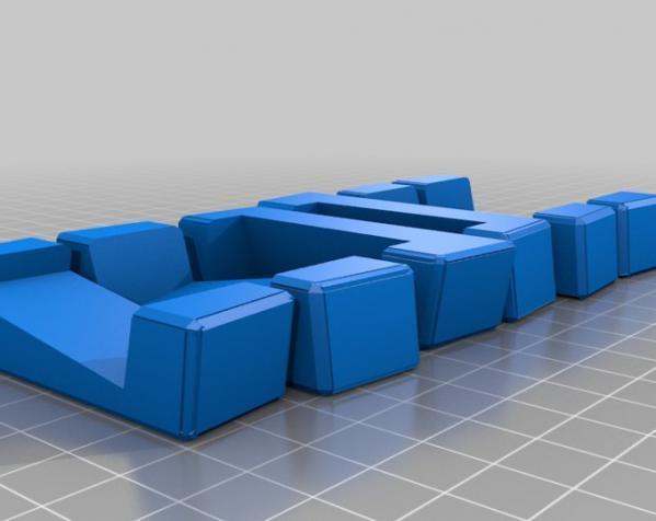 可随意扭转的立体拼图 3D模型  图1