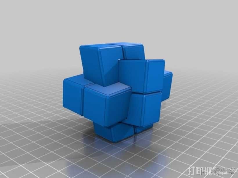 可随意扭转的立体拼图 3D模型  图2