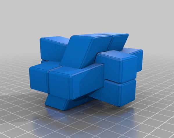 可随意扭转的立体拼图 3D模型  图4