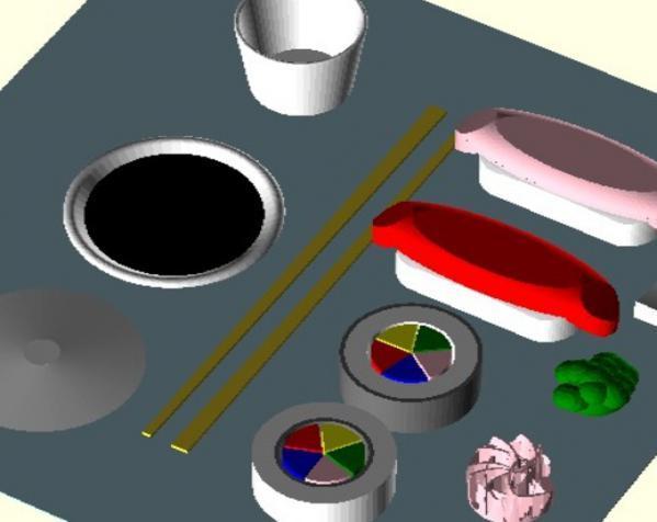 塑料寿司玩具套件 3D模型  图2