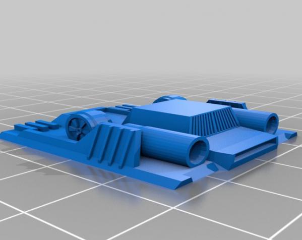 特制步行者 3D模型  图2