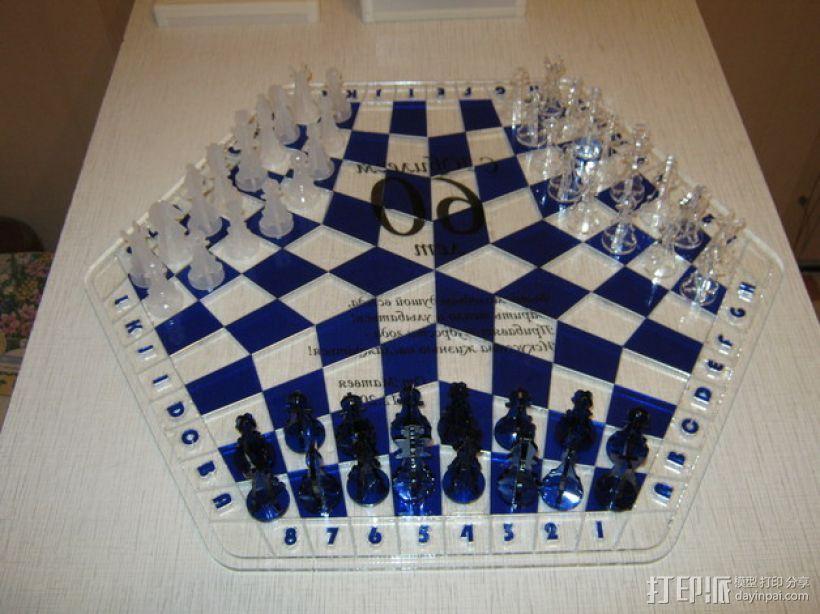 三人国际象棋 3D模型  图1