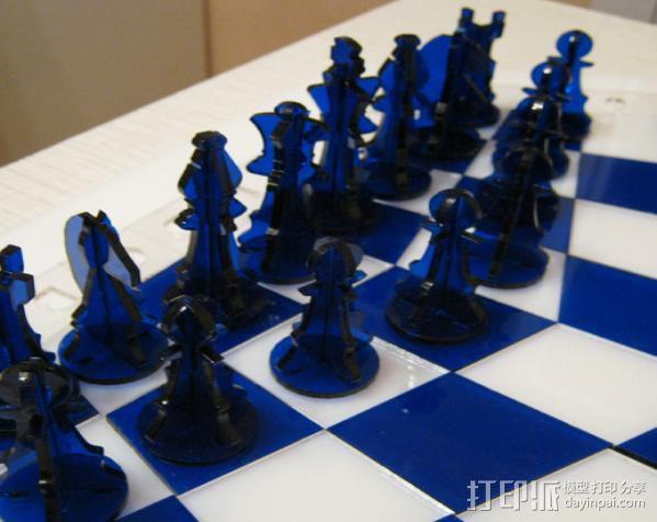三人国际象棋 3D模型  图12