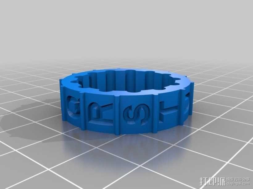 迷你密码筒 3D模型  图11