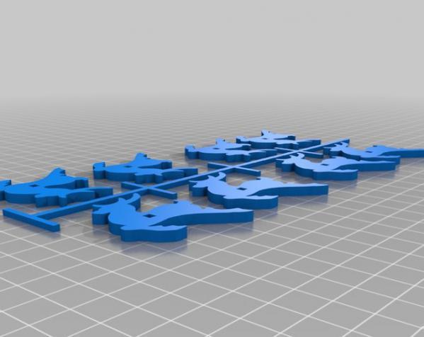 圣诞老人雪橇和8只小麋鹿 3D模型  图5