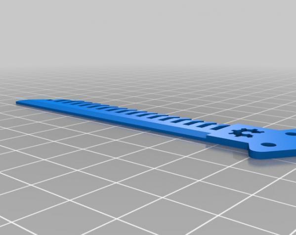 蝶形梳子 3D模型  图3