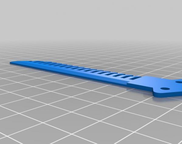 蝶形梳子 3D模型  图2