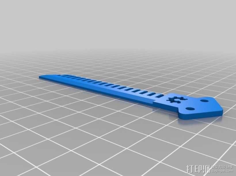 蝶形梳子 3D模型  图7