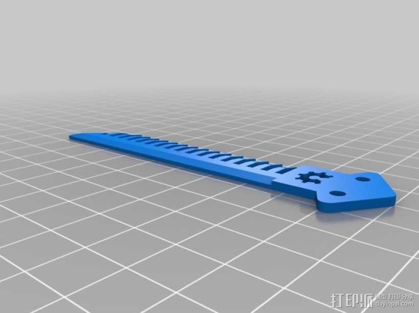 蝶形梳子 3D模型  图8
