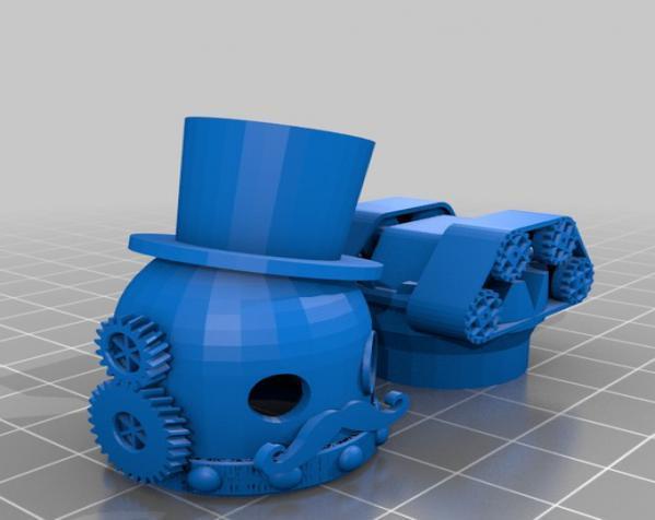 朋克风的吃豆人 3D模型  图3