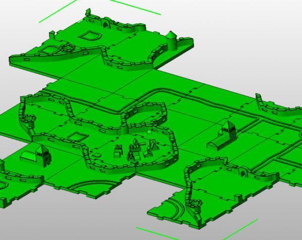 桌游《Carcassonne》模型 3D模型  图2