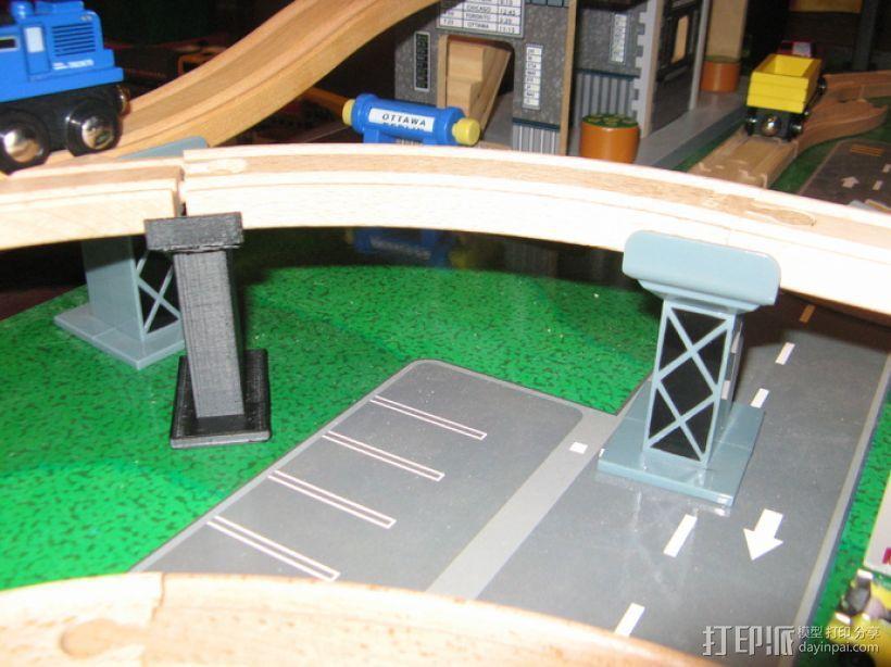 木质火车轨道 3D模型  图2