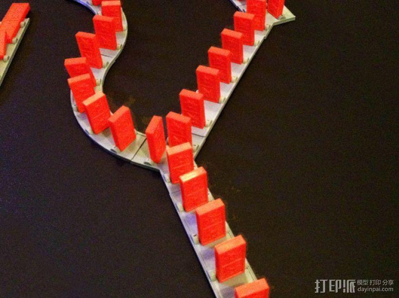 多米诺骨牌轨道 3D模型  图2