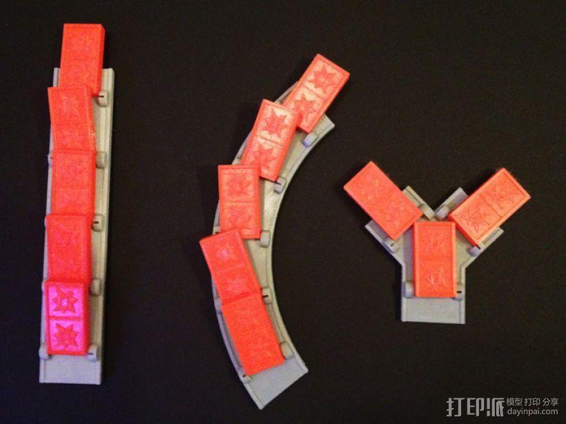 多米诺骨牌轨道 3D模型  图3