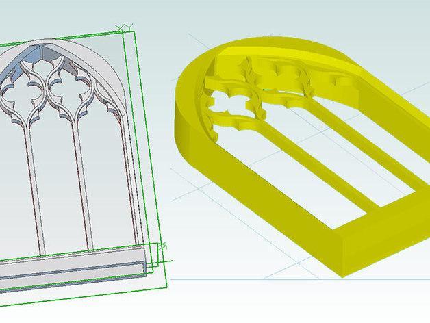 哥特式窗户 3D模型  图2