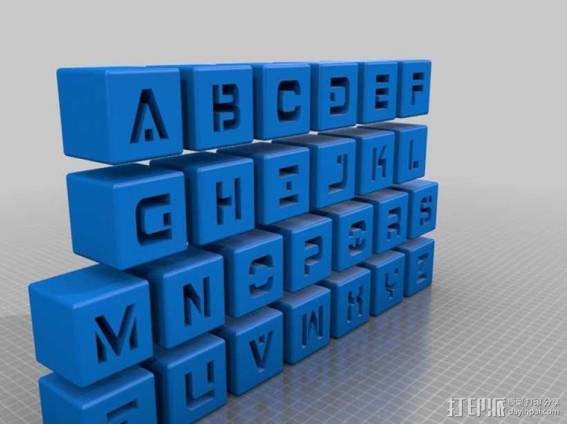 字母立方体 3D模型  图1
