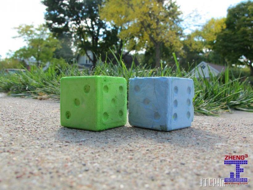 骰子模具 3D模型  图1
