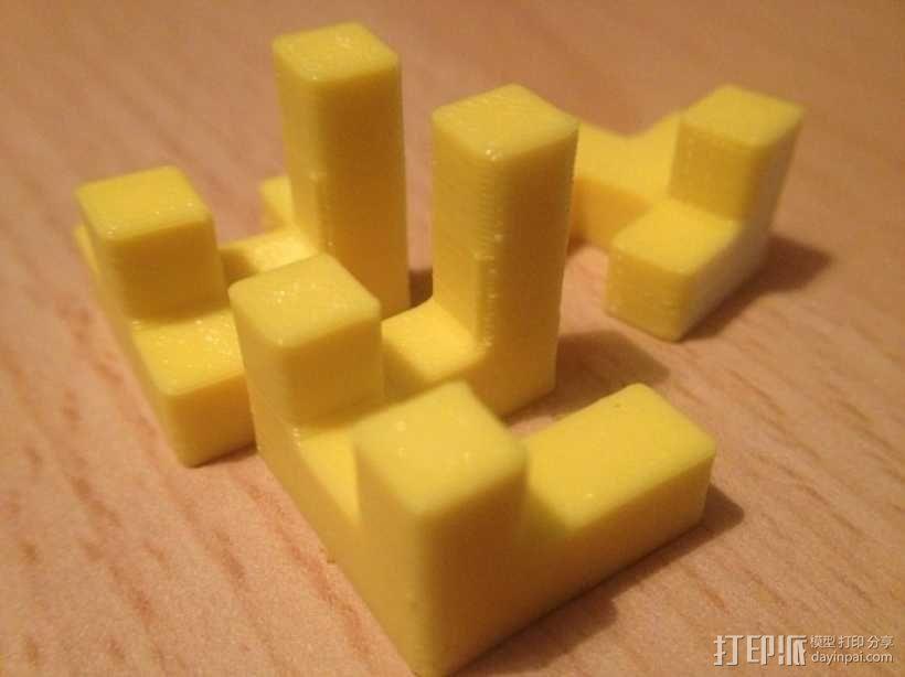 联锁拼图#1 3D模型  图4