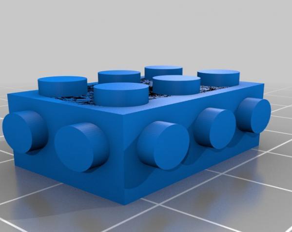 玩具砖块 3D模型  图1