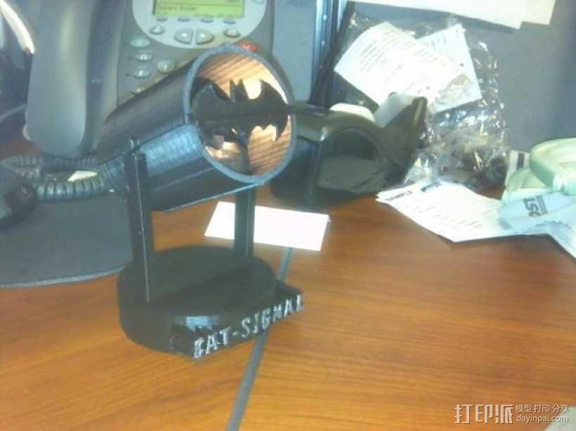 蝙蝠形信号灯 3D模型  图1