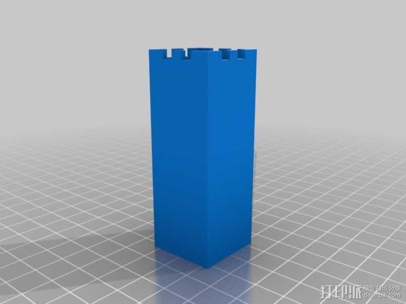 桶状象棋 3D模型  图2