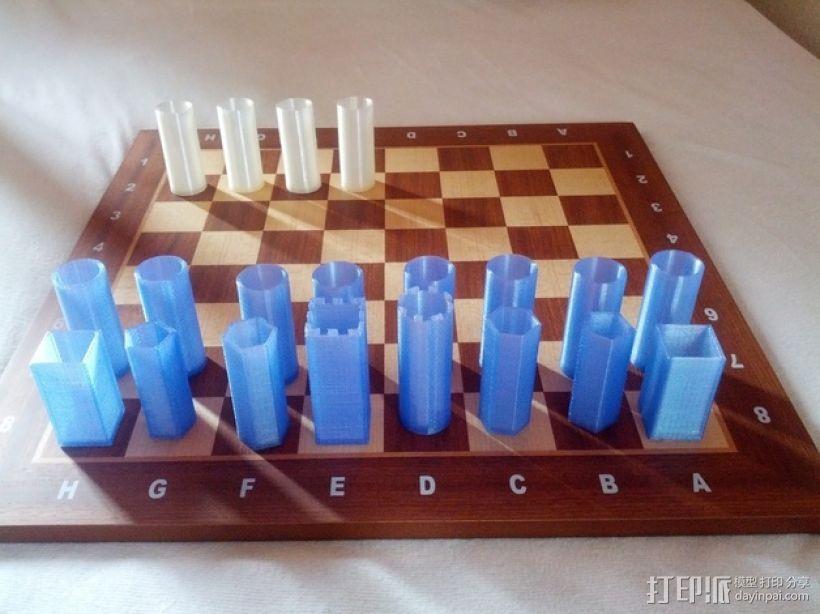 桶状象棋 3D模型  图11