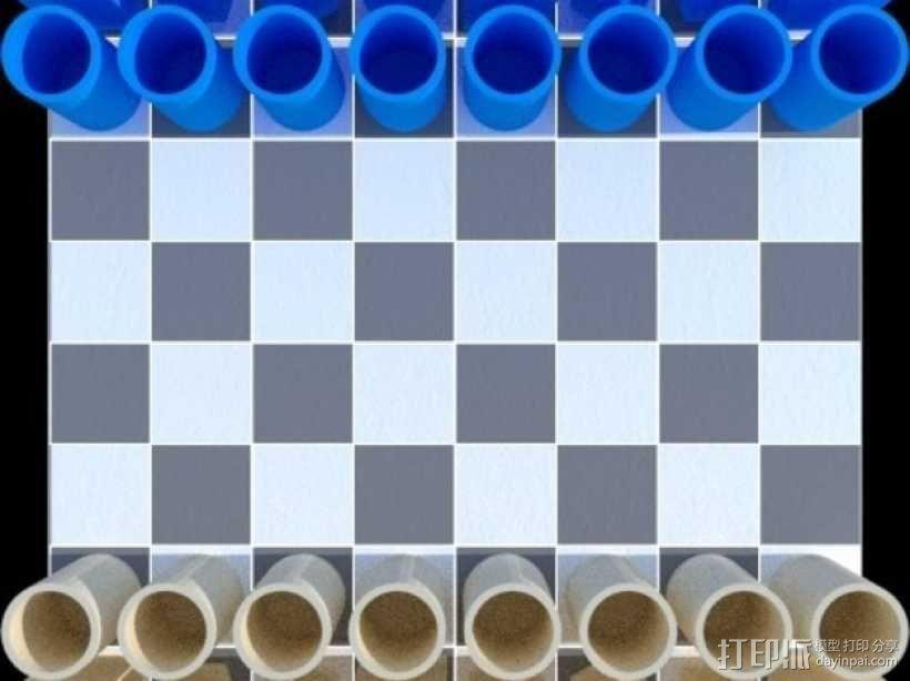 桶状象棋 3D模型  图9