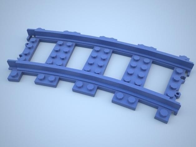 乐高玩具火车车轨 3D模型  图1