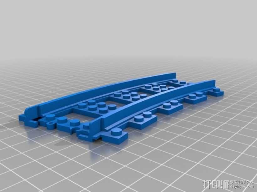 乐高玩具火车车轨 3D模型  图4