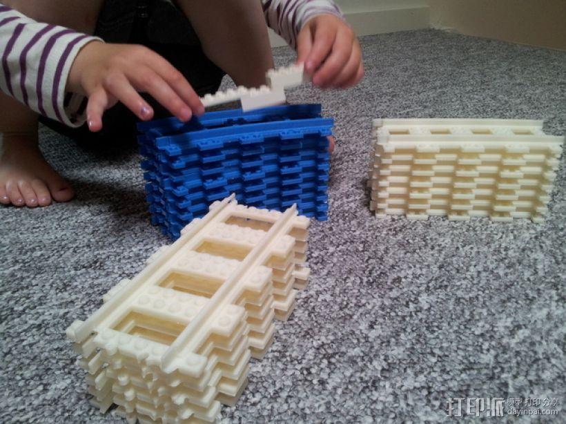 乐高玩具火车车轨 3D模型  图6