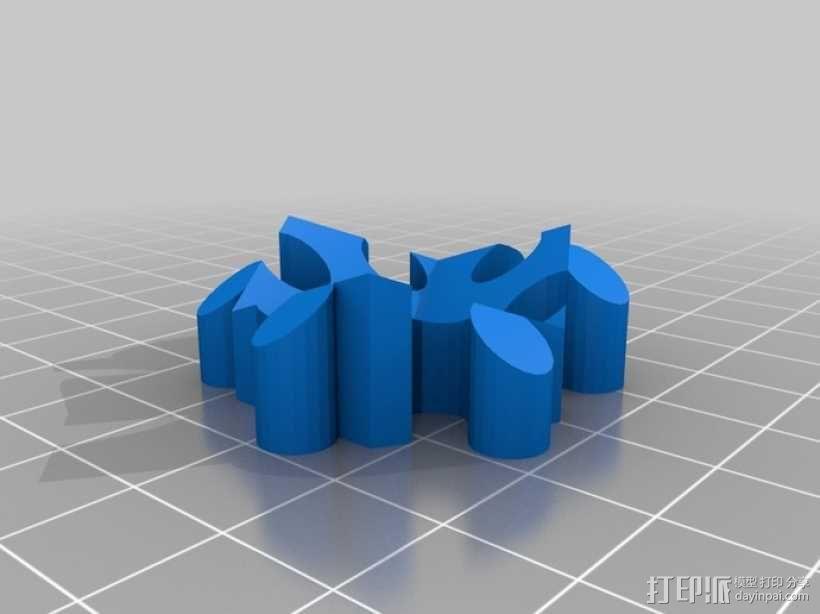 螺旋二十四面体拼图 3D模型  图7