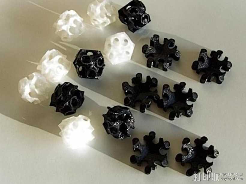 螺旋二十四面体拼图 3D模型  图3