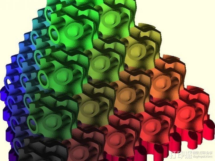 螺旋二十四面体拼图 3D模型  图6