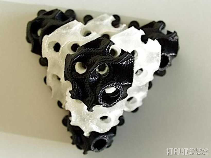 螺旋二十四面体拼图 3D模型  图5