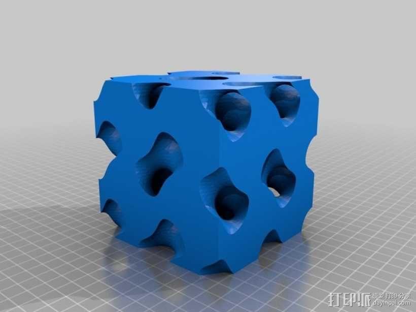 螺旋二十四面体拼图 3D模型  图9