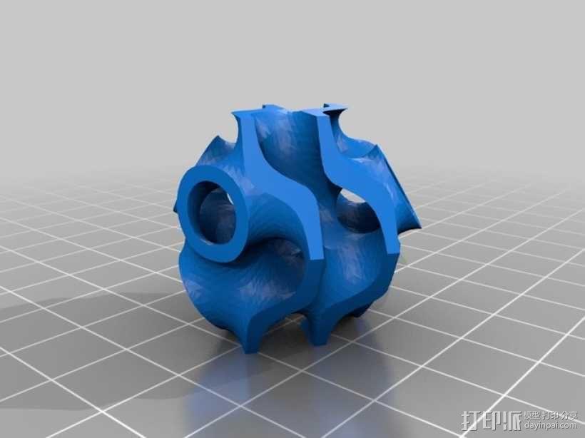 螺旋二十四面体拼图 3D模型  图8
