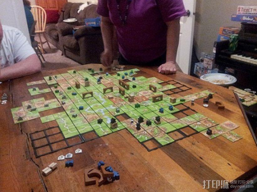 游戏《Carcassonne》模型 3D模型  图4