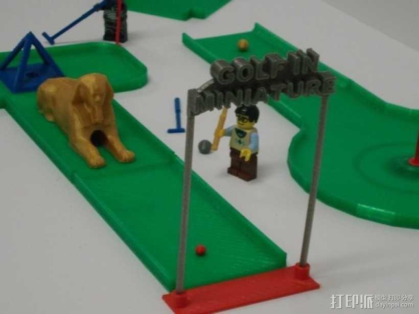 迷你高尔夫球场 3D模型  图1