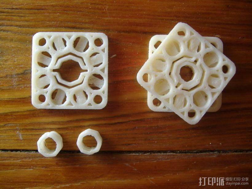 对称联轴器 3D模型  图1