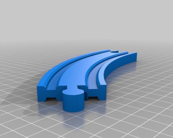 Brio火车轨道 3D模型  图2