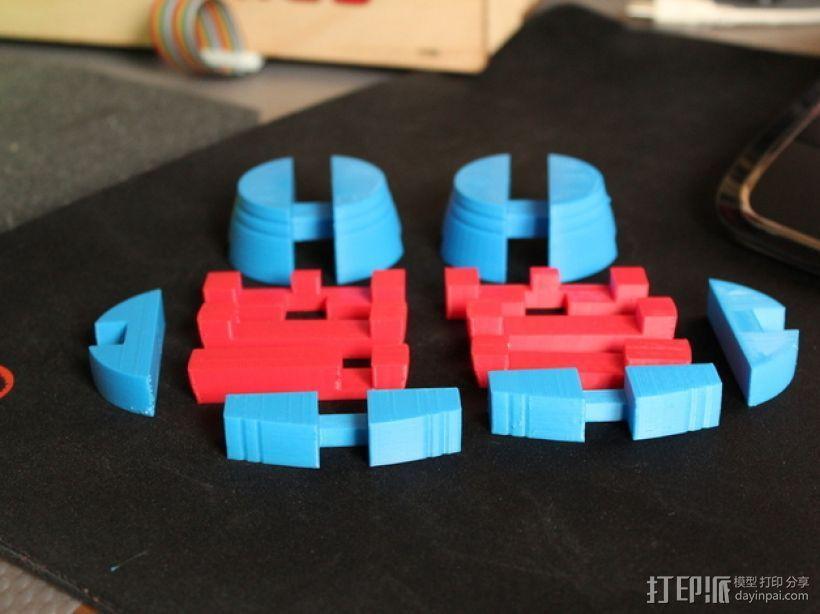 木桶拼图 3D模型  图2