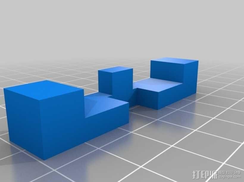 木桶拼图 3D模型  图4