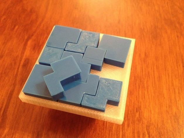 立方体拼图方块 3D模型  图3